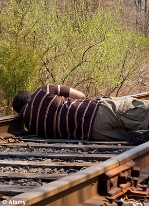 asleep on tracks