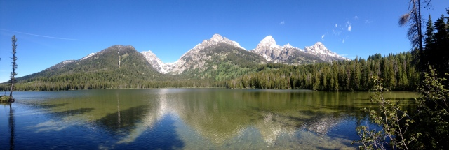 The stupid, ugly Tetons from around Bradley Lake.