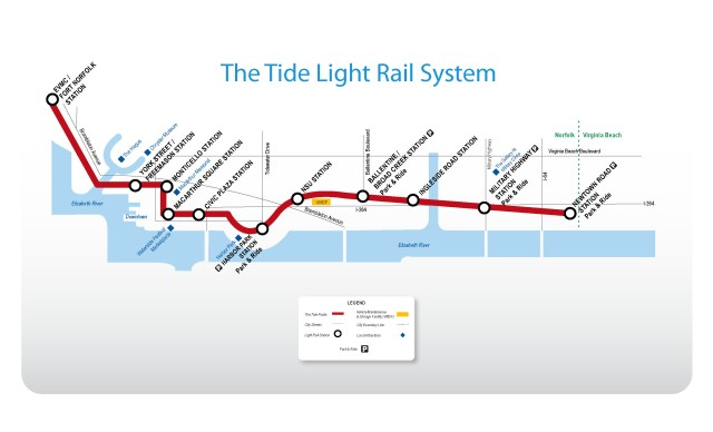 tide light rail map