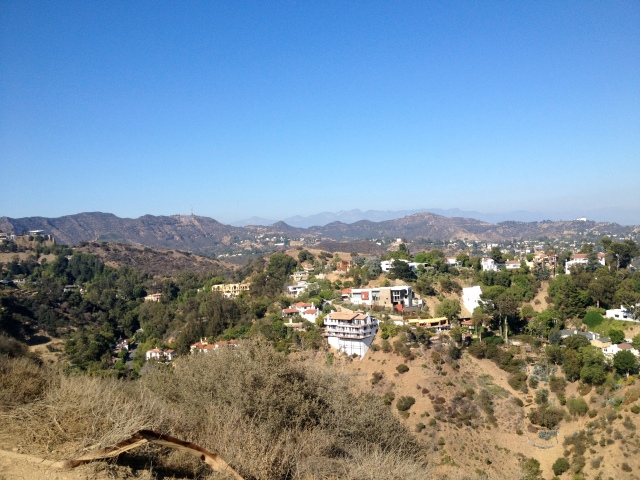 Some of the big houses in the hills.  And you can see part of the next hike!