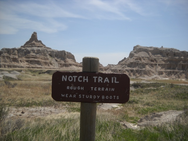 Notch Trail in the Badlands